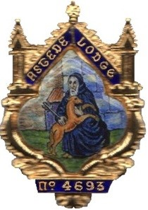 A reproduction of The Astede Lodge Past Masters Jewel